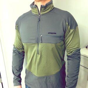 Men's Patagonia Performance Pullover Green/Grey, M